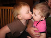 Law of the toddler jungle 1: The older get to kiss the younger! (Nicole kissing Elizabeth)