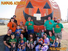 2012 Pumpkin Acquisition Away Team (That's a bouncy house behind us, and yes, we do NEED one--anybody got a spare $3.5 grand in their pocket?) <br /> (from top left: Eric Sr, Tara, Kirsten, Thomas, JD, Mike J; Next Row: Amy, Alex,Eric Jr, Kati, Nicole, Anna; Next row: Nate, Suzie, Ingrid, Erin; Lapsitters: Ryan, Elizabeth L, Nicholas Jr and Matiaz)