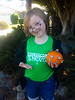 Nicole with her Frankenpumpkin from the event at OSH