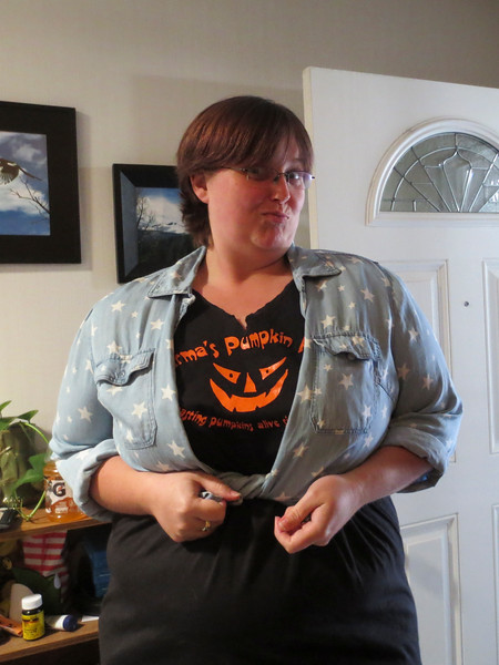 Wearing it right! (KPP Pumpkin Acquistion)