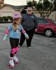 Proud mama and skater girl.(New Roller Skates)