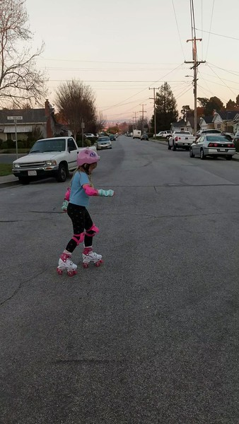 New Roller Skates (Video is overlong; it gave me trouble in editing)