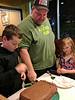 Bday boy makes the first cut (Thomas' Birthday Korean BBQ Dinner)