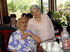 Playful birthday girl! (Auntie Jean Young's 90th Bday Party) (Dick & Janice Wong's pic)