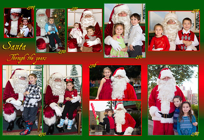 Santa through the Years: Eric & Lizzy