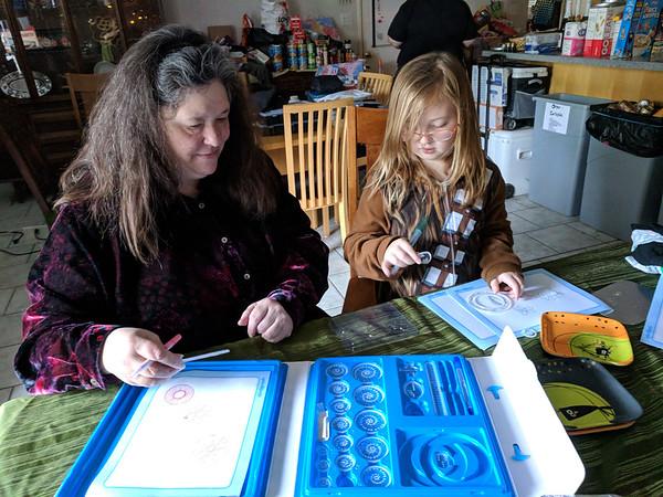 Spirograph fun (Christmas Day)
