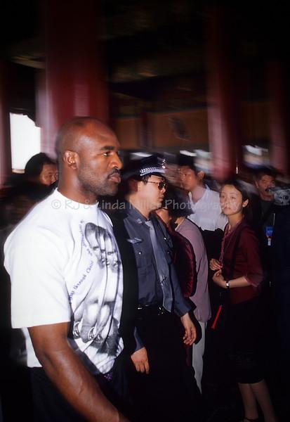 Evander Holyfield in Forbidden City, Beijing, China, Asia, Asian