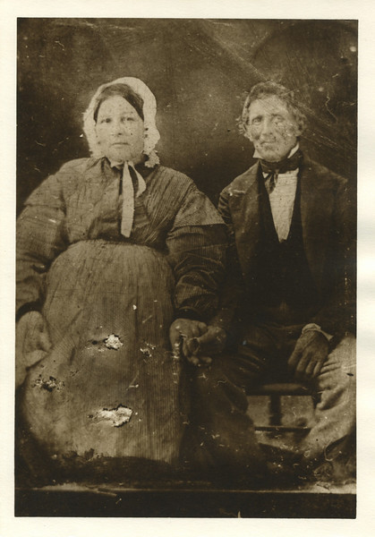 "Johann (John) Diehm and wife Catharine Rightmeyer<br /> <br /> ""John Deem was once an employee of Stephen Girard of Pennsylvania in hat manufacture and made Panama Hats which certain process had to be did under water.  Many institutions in Philadelphia yet bear the name of Stephen Girard"" - Arthur Lloyd Deem (written on tin type envelope)<br /> <br /> John DIEHM<br /> Birth:	13 Jul 1798, Berks County Pennsylvania<br /> Death:	25 Jun 1881<br /> Father:	Wilhelm DIEHM (1760-1845)<br /> Mother:	Maria Catherine KLOOS (1763-)<br /> <br /> Spouse:	Catharine RIGHTMEYER<br /> Birth:	21 Jun 1800, Illinois?<br /> Death:	Apr 1857<br /> <br /> Children:	<br /> Mary Getts (1822-)<br /> 	Lida (1826-)<br /> 	Charles (1828-)<br /> 	Ellen (1830-)<br /> 	Hannah (1832-)<br /> 	John L (1834-1854)<br /> 	Elisabeth (1836-)<br /> 	William Rightmeyer (1838-1916)<br /> 	Stephen (1840-)<br /> 	Sarah F. (1842-)<br /> 	Adam Brooks (1845-1912)"