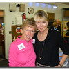 Diane was able to convince her really good buddy from flying days, Julie Carey, to act as our Official Greeter making sure everyone had a name tag.  Given that so many folks hadn't seen each other in decades, name tags were essential.