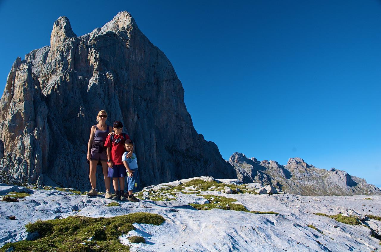 Tres montañeros.