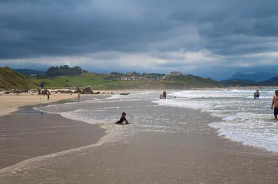 Nubes y playa, la combinación cántabra.
