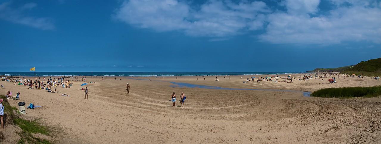 Panorámica de la playa de Merón, en San Vicente de la Barquera