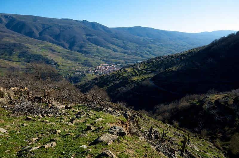 El Valle del Jerte, lls cerezos todavía no estaban en flor.
