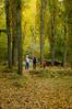 Wendell, Celeste y Max jugando con las hojas en otoño. Un clásico.