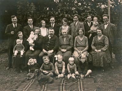 Familien samlet i Assendløse.