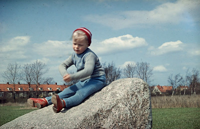 Morten på sten.