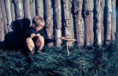 Morten med svamp.