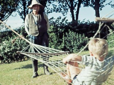 Morten i hængekøje med Jens renberg.