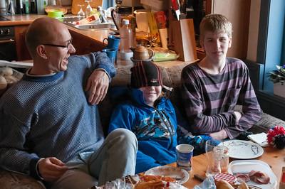 Bernds Bruder Ulf musste am Montag leider schon wieder fahren.