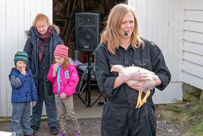 Am Sonntag vor Ostern waren wir dann noch im Jærmuseum. Dort wurde den Kindern gezeit, wie man Hühner schlachtet. Wir haben dabei auch viel gelernt.
