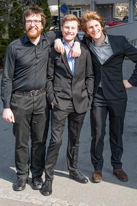 Die drei Halbstarken: Ludwig, Paul und Oskar.