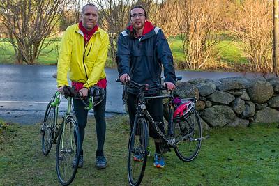 Neujahr war das Wetter gut und Bernd hat mit Ludwig eine kleine Radtour gemacht.