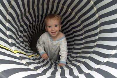 Richard im Tunnel.