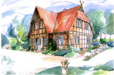Dieses Haus wollen wir in Barrien bauen.