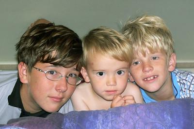 Ludwig, Richard und Oskar (von links)