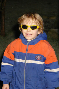 Beim Feuerwerk hatte auch Richard eine Schutzbrille auf.