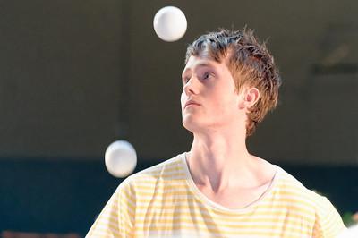 Dieser Schüler konnte toll jonglieren. Wirklich sehenswert!