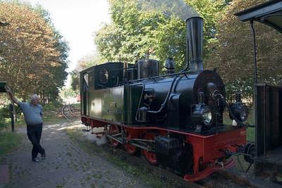 Bei einem Zwischenstop in Heiligenberg sahen wir den Zug noch einmal aus der Nähe.