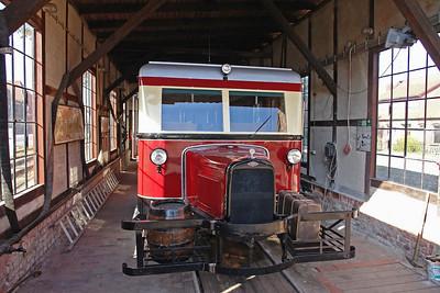 Dieser Triebwagen steht im Schuppen in Asendorf und wird nur zu besonderen Anlässen gefahren.