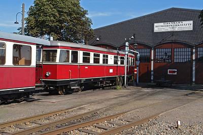 Pingelheini: Im Lokschuppen der Museumseisenbahn in Bruchhausen-Vilsen, war dieser alte Triebwagen zu besichtigen.