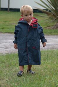 Die Regenjacke war noch etwas gross. (Neuseeland 2005/2006)