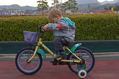 Richard's erste Fahrradtour.