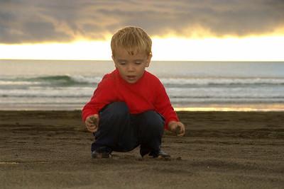 Am Strand im Nordwesten der Nordinsel.