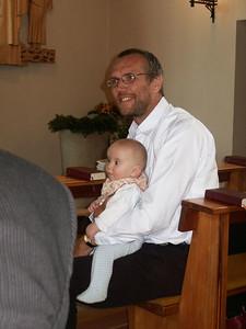 Wir feiern Richards Taufe in der katholischen Kirche in Syke.