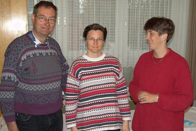 Helga, Bernd und Helga (von links). Helgas Schulfreundin Helga hat auch einen Bernd geheiratet.