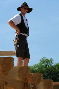Ein echter, zünftiger Zimmermann.