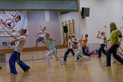 Capoeira ist ein brasilianischer Kampfsport. Aber es wird auch viel getanzt und gesungen. An diesem Wochenende hatte die Gruppe in Stavanger Ihr Batizado (Taufe).