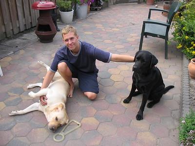 Paddy en Finnie  Remco juli 2003