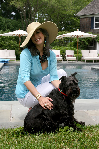 5 -- by pool with dog