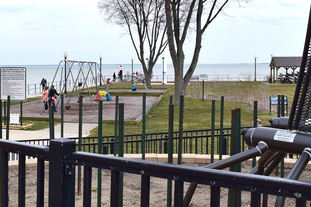 . Area families enjoyed the warm temperatures on April 12 at Walter and Mary Burke Park in downtown New Baltimore. (Photos by Katelyn Larese)