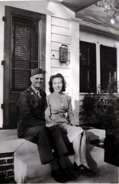 """----------John T. """"Pete"""" and Dorothy (Parrish) Akins. Pete was veteran of WWII-----------"""