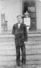 """Collis Allen, son of John L. Allen. Photo taken in front of the Jesse Shelby """"Dock"""" Shaw home on Possom Branch Road near Ray City. Photo courtesy of Bryan Shaw"""