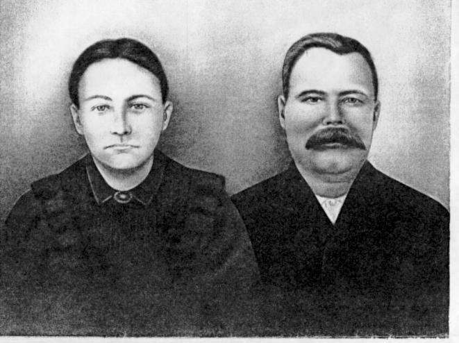 Rachel Futch Allen 1859-1937 and William B. Allen 1857-1924, early settlers of Allenville.