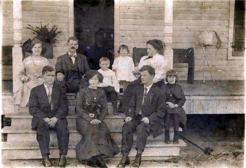 """The James Hardy Anderson Family of Nashville. Top row, left to right: Lucille Anderson, James Hardy Anderson, Charles W. """"Shine"""" Anderson, Mary Anderson, Georgia Whitfield Anderson.<br /> Bottom row, left to right: Harry Anderson, Grace Anderson, Clifford Anderson, Mable Anderson"""