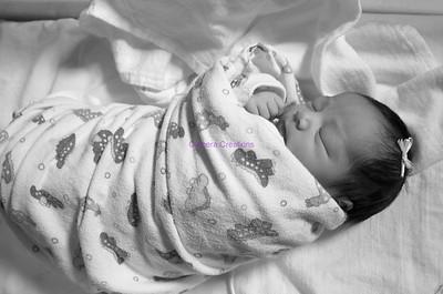 Baby Girl Hospital Portraits / Oct 2014