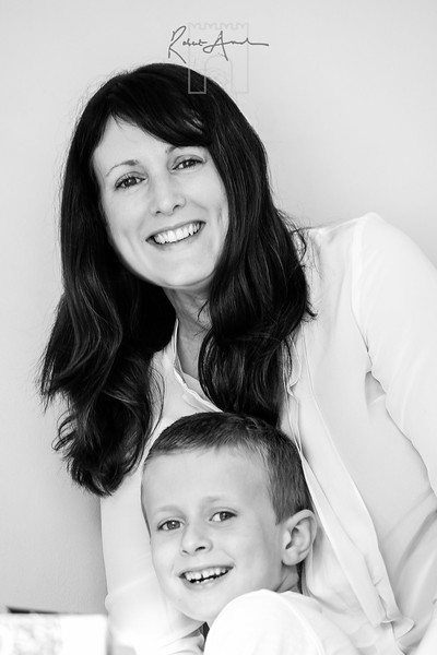 Portrait of mum and son